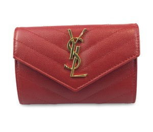Saint Laurent YSL Quilted Leather French Wallet