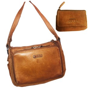 Fossil Smooth Leather Purse & Wallet Two Piece Purse Set Excellent Condition Shoulder Bag