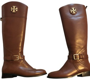 74ccbf85e601c Tory Burch Cognac Woman s Sidney Leather Boots Booties Size US 7 ...