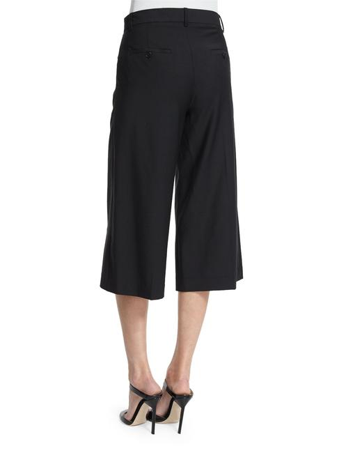 Theory Culottes Legged Suiting Wide Leg Pants Black