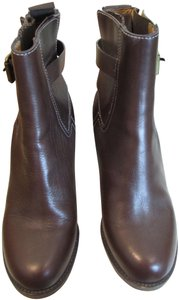 Chloe Leather Buckle Brown Boots