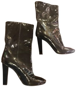 Jimmy Choo Midcalf Worn Once Black Patent Boots
