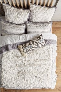 Anthropologie Trade Route Creme and Grey Two (2) Euro Shams Other