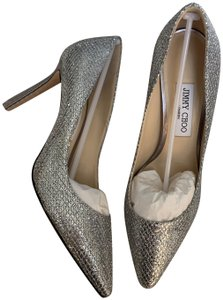 Jimmy Choo Holiday Pointy Silver Pumps
