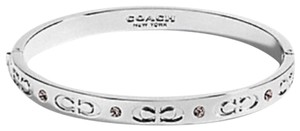 Coach NWT Coach Silver Kissing C Signature Bangle Bracelet