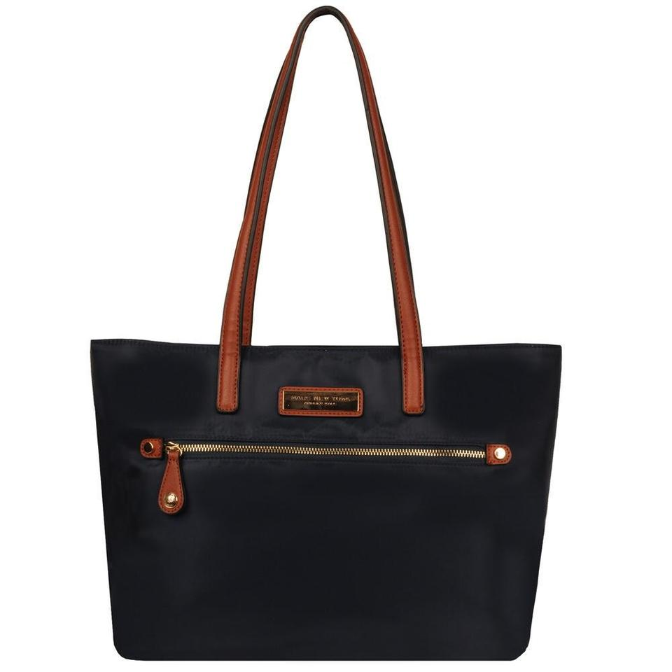 95828bec52 Andrew Marc New York Front Zip Nylon Navy Tote - Tradesy