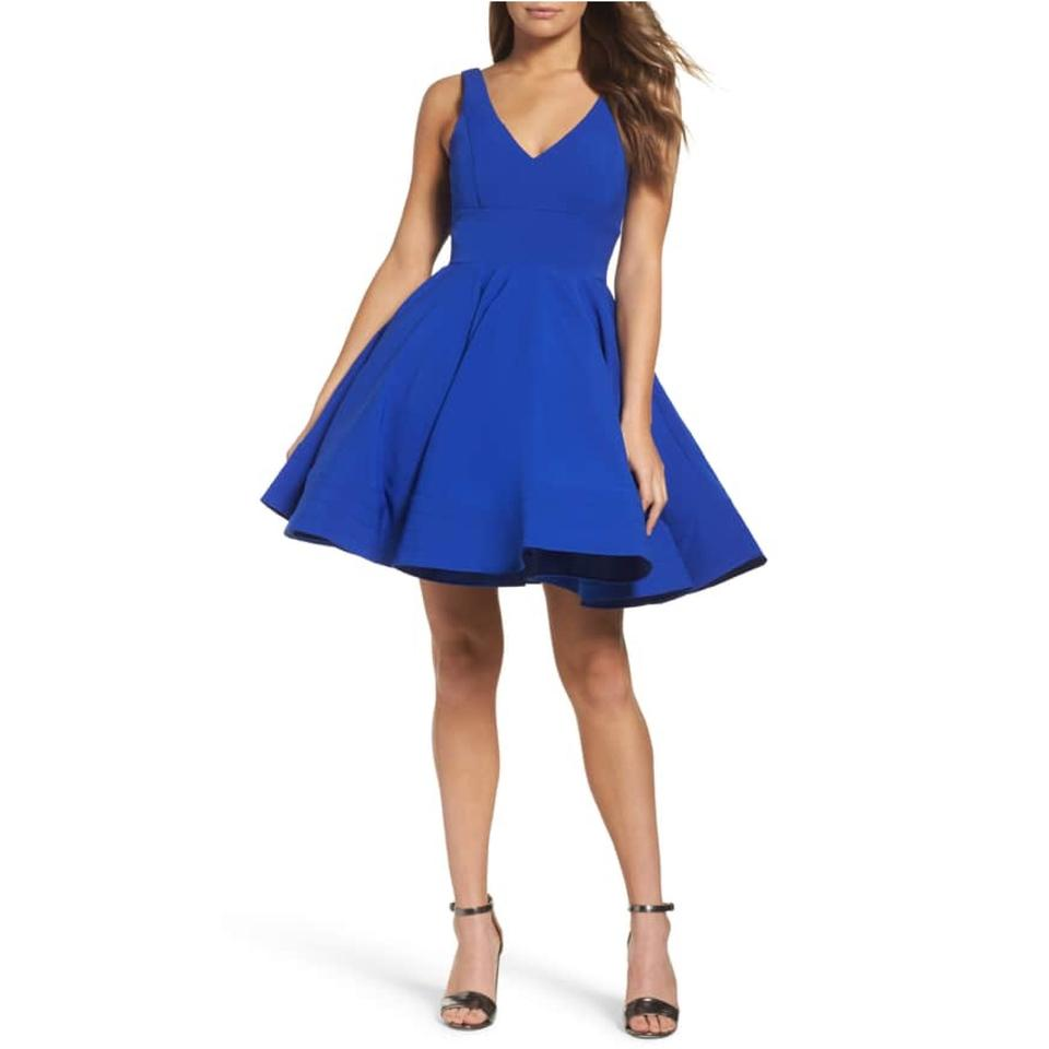 cb12dd502 Mac Duggal Couture Royal Fit and Flared Short Cocktail Dress Size 8 ...