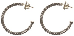 Lagos Lagos Sterling Silver Signature Caviar Hoop Earrings