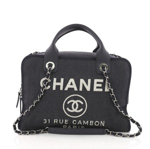 Chanel Bowling Tote in blue