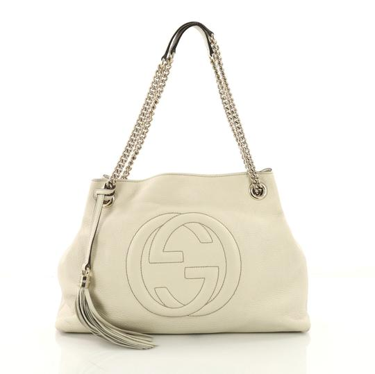 6be4f5ce508 gucci soho chain strap medium beige leather shoulder bag 41% off retail