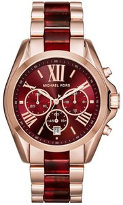 Michael Kors NEW Michael Kors Rose Gold and Red Two Tone Mk6270 Watch
