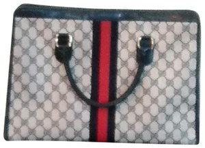 Gucci Tote in Navy Blue and Red