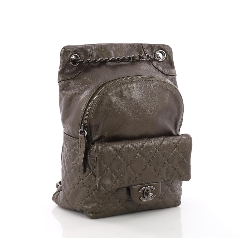 3df1ce908d01 Chanel Drawstring Backpack Cc Flap Quilted Small Brown Lambskin ...
