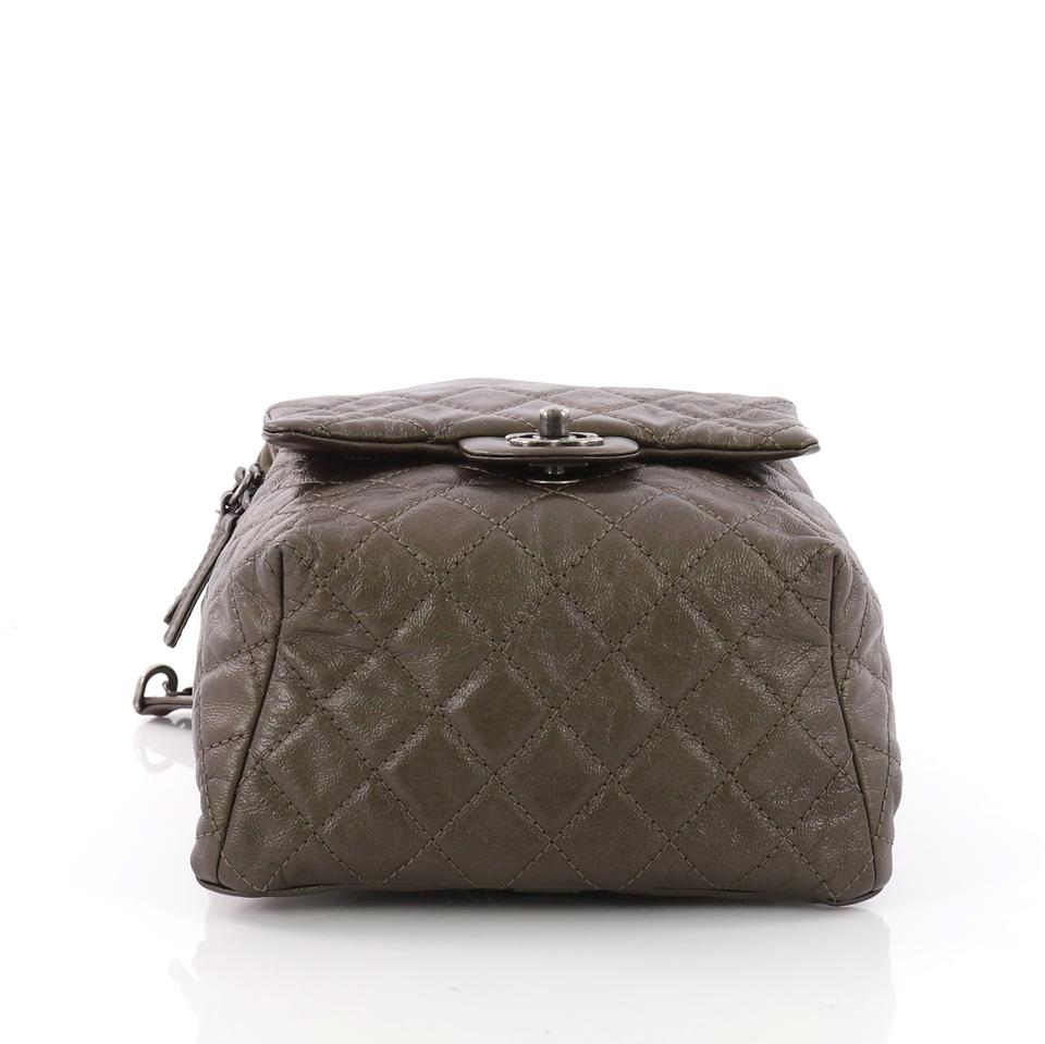 ecd844bf19b015 Chanel Drawstring Backpack Cc Flap Quilted Small Brown Lambskin ...
