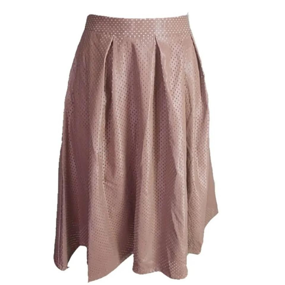 eebe48caffee Brown Perforated Fauxleather Skirt Size 6 (S, 28) - Tradesy