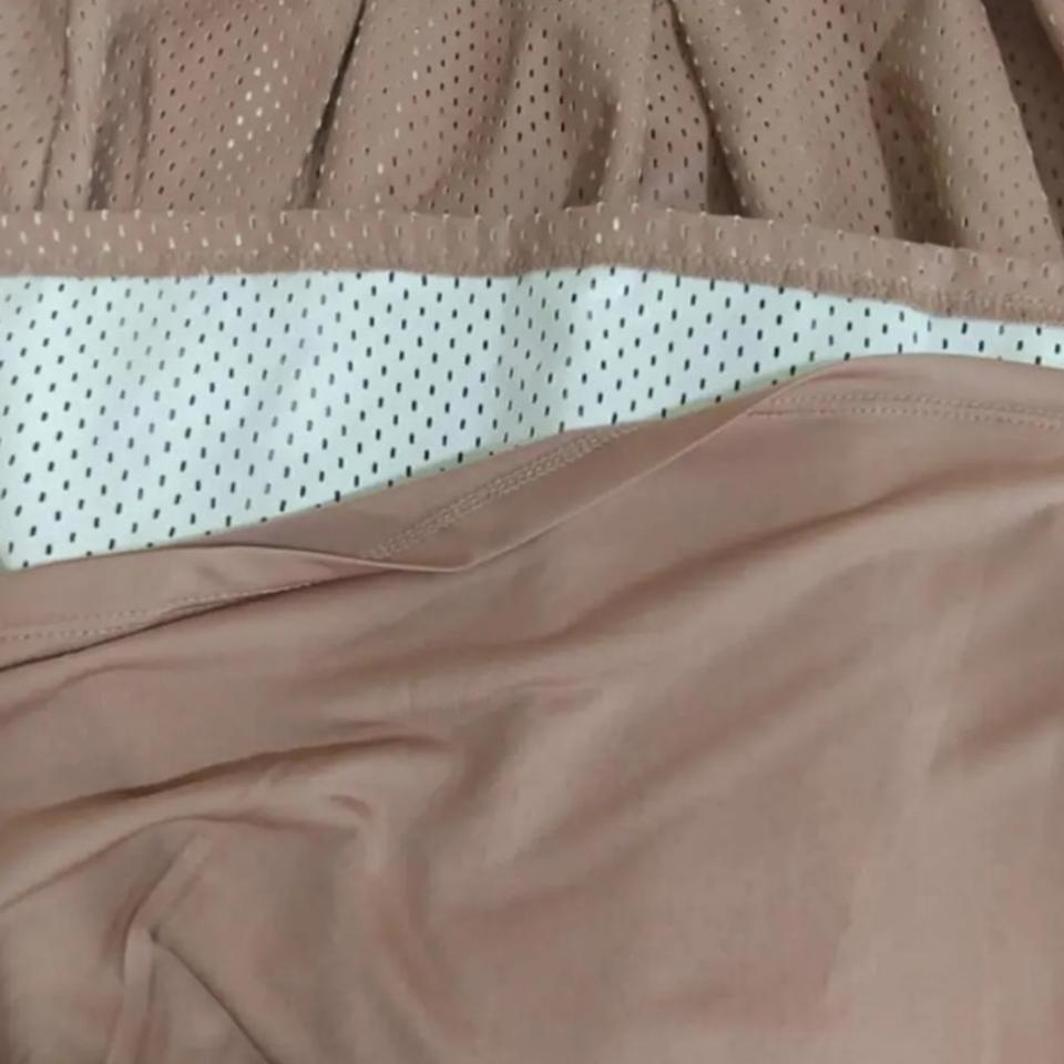 83d83ebb1a Brown Perforated Fauxleather Skirt Size 6 (S, 28) - Tradesy