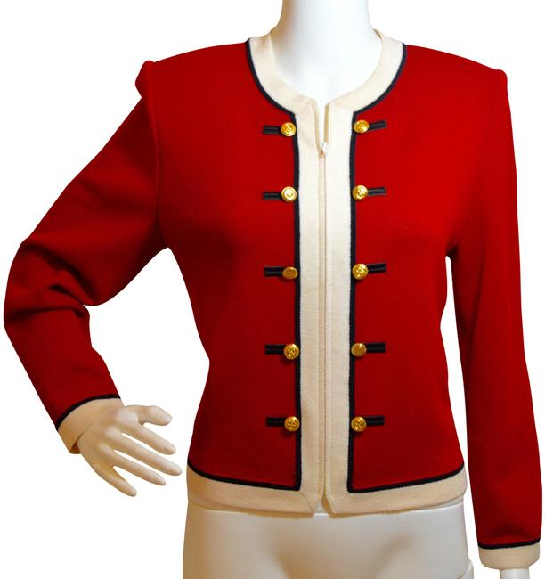 Item - Red/White/Black Marie Gray Collection Blazer Size 6 (S)