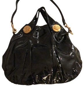 Gucci Patent Leather Dust Hobo Bag