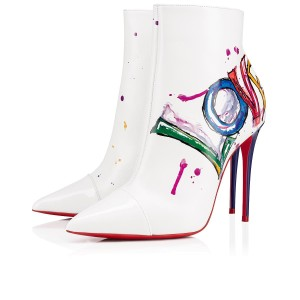 Christian Louboutin Stiletto Ankle Classic Love white Boots