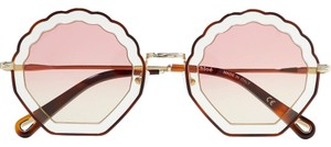 Chloé Tally shell-shaped sunglasses in metal