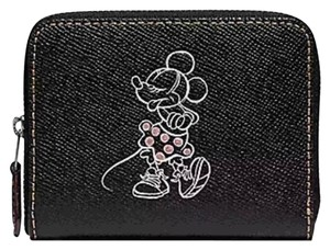 Coach COACH SMALL ZIP AROUND WALLET WITH MINNIE MOUSE MOTIF F29377