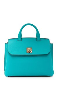 MCM Satchel in Oasis Green