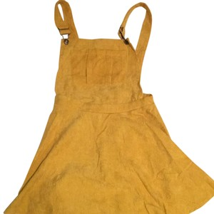Romwe short dress mustard yellow on Tradesy