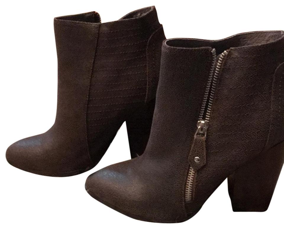 8cad312d7fbb9 Dark Brown Nadine Zoe) Leather Boots/Booties Size US 9 Regular (M, B) 57%  off retail