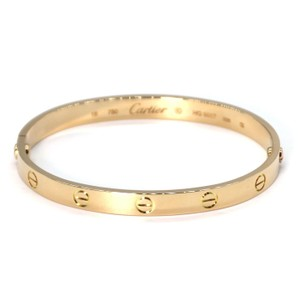 Cartier Love 18k Yellow Gold Motif Bangle Size 18 Driver Cert