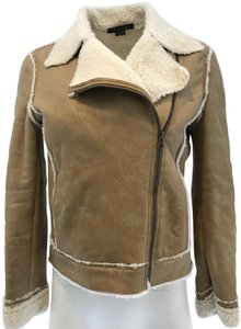 Theory tan Leather Jacket