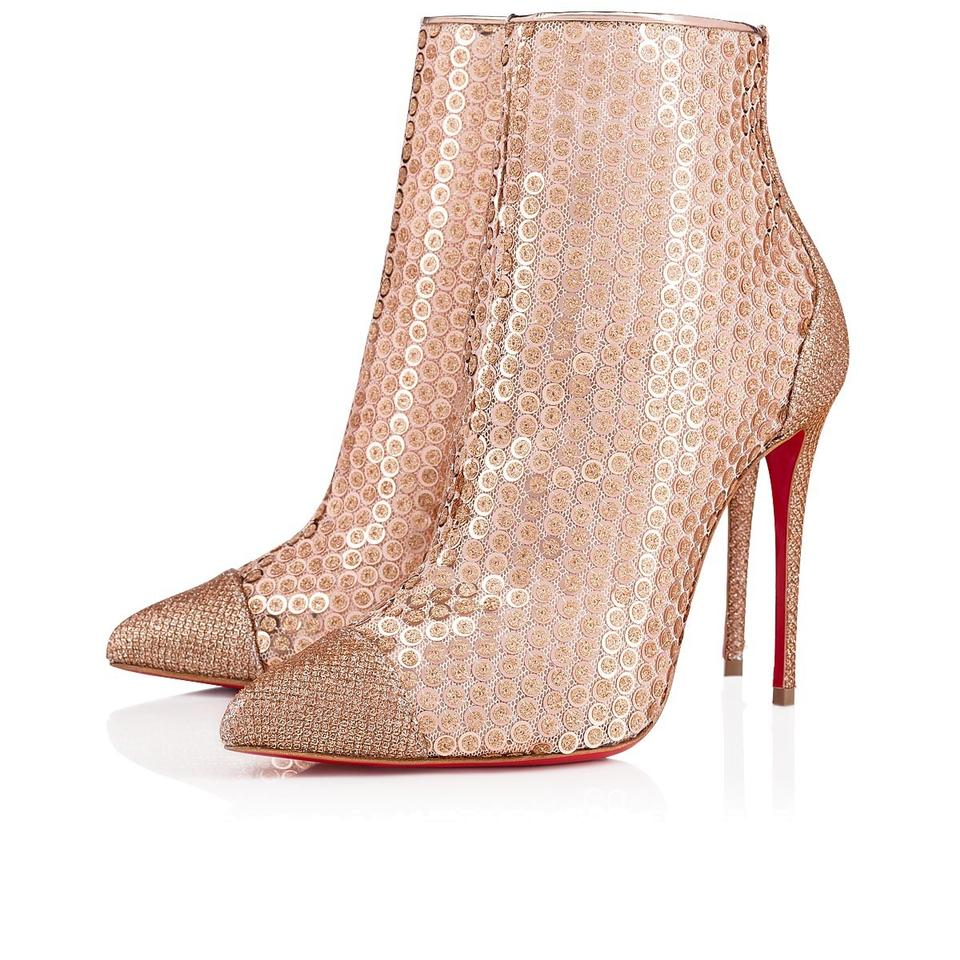 75e9c0d3ff42 Christian Louboutin Stiletto Lace Gipsybootie Classic nude Boots Image 0 ...