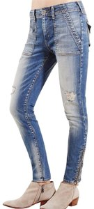 True Religion Edgy Stretchy Destroyed Skinny Jeans-Distressed