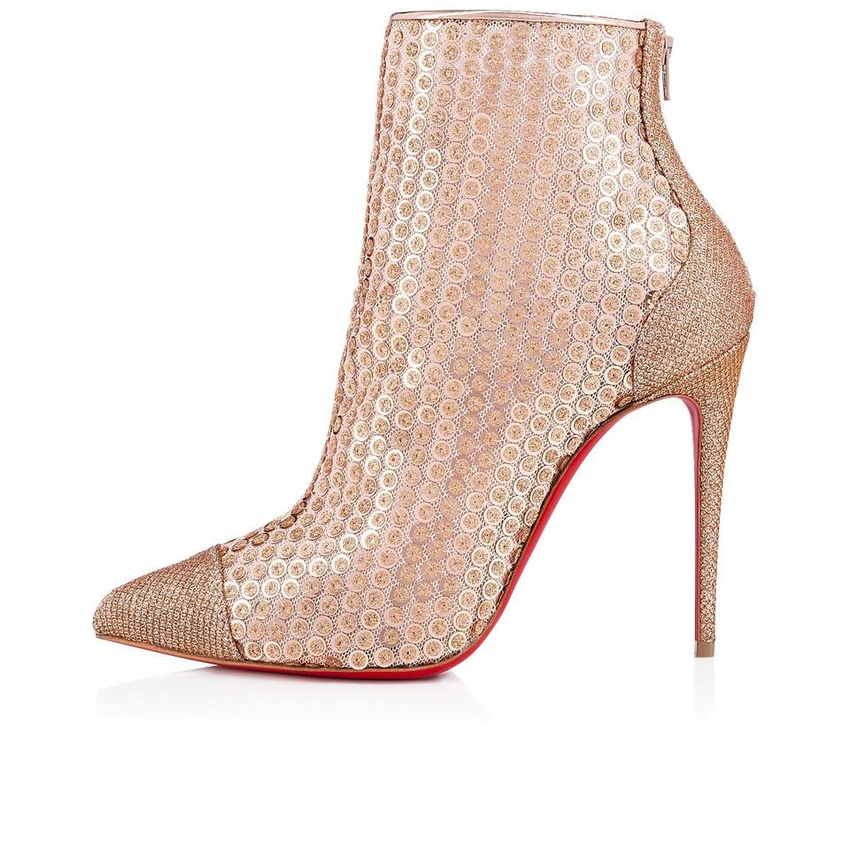 6157fb9fbbb9 Christian Louboutin Stiletto Lace Gipsybootie Classic nude Boots Image 11.  123456789101112