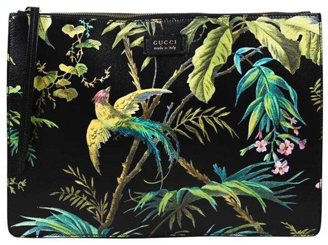 Item - Tropical Multicolor Coated Canvas Messenger Bag
