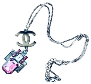 Chanel Chanel Chain Necklace with Geo Pendant