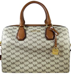 Michael Kors Fabric/Leather 190049627181 Satchel in Natural