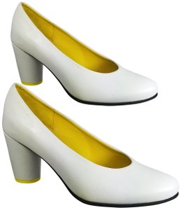 Arche white/ yellow Pumps