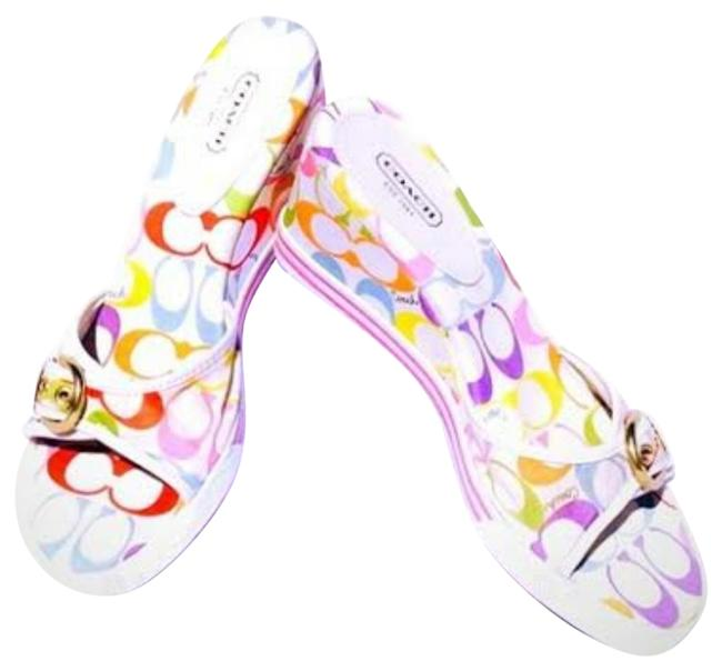 Item - White/Pink Perry Multicolor Wedges Size US 6.5 Regular (M, B)