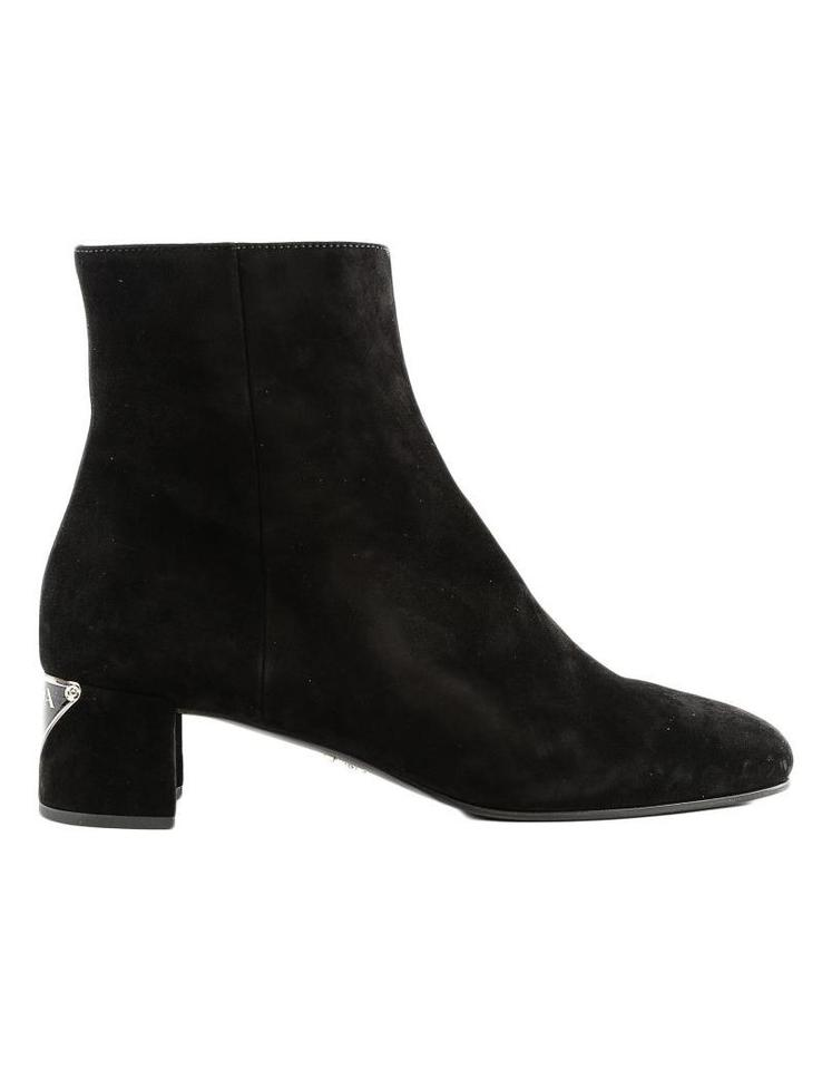 bc285b0e2d22 Prada Nero Ankle Boots Booties. Size  EU 37.5 (Approx. US 7.5) Regular ...