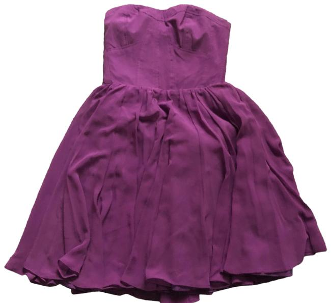 Item - Purple Strapless Bustier A-line Short Night Out Dress Size 2 (XS)