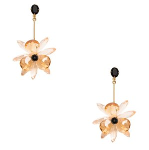 Kate Spade NWT ' BLOOMING BRILLIANT ' FLOWER DROP EARRINGS