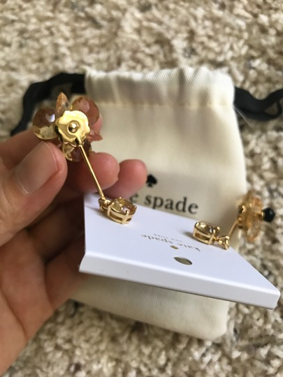 Kate Spade NWT ' BLOOMING BRILLIANT ' FLOWER DROP EARRINGS Image 5