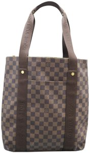 Louis Vuitton Lv Beaubourg Canvas Damier Ebene Tote in brown