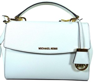 Michael Kors Leather 889154332287 Satchel in White