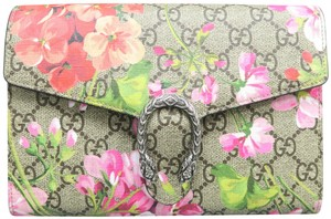 Gucci Gg Blooms Dionysus Wallet On Chain Shoulder Bag