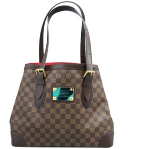Louis Vuitton Lv Hampstead Canvas Damier Ebene Satchel in brown