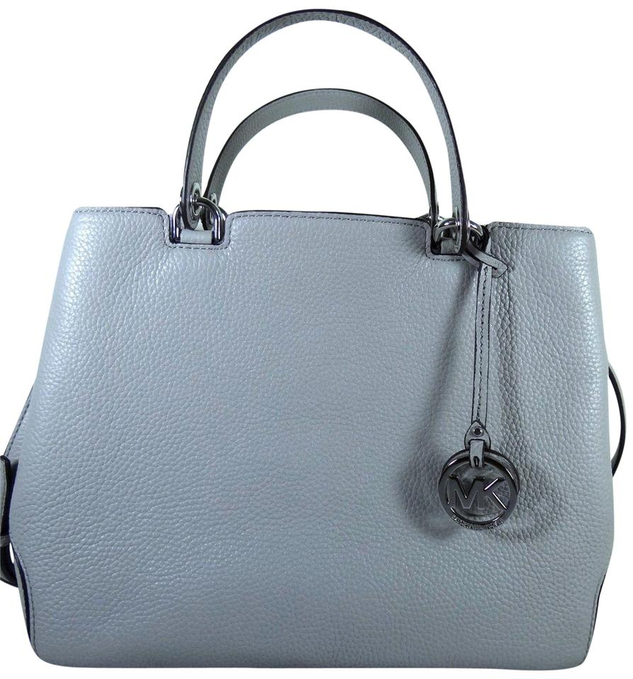 fcec961e7892ea Michael Kors Anabelle Large Pebbled Pearl Grey Leather Satchel - Tradesy