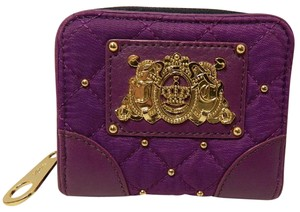 Juicy Couture ~Like New~Juicy Couture Malibu Quilted Nylon Purple Stud Wallet~Rare