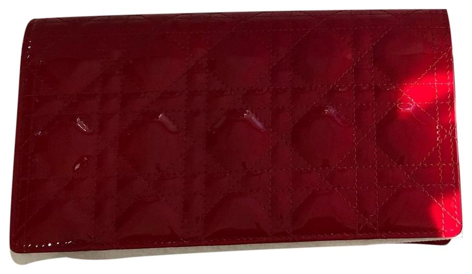 Dior Lady Dior Wallet On Chain Red Patent Leather Cross Body Bag ... 1cb4e3c461a35