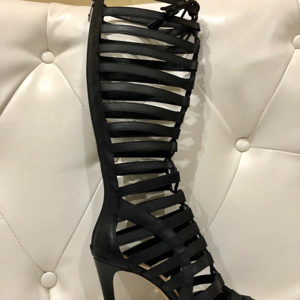 063c7ee90010 Vince Camuto Black Olivian Tall Kneehigh Gladiator Sandals Boots ...